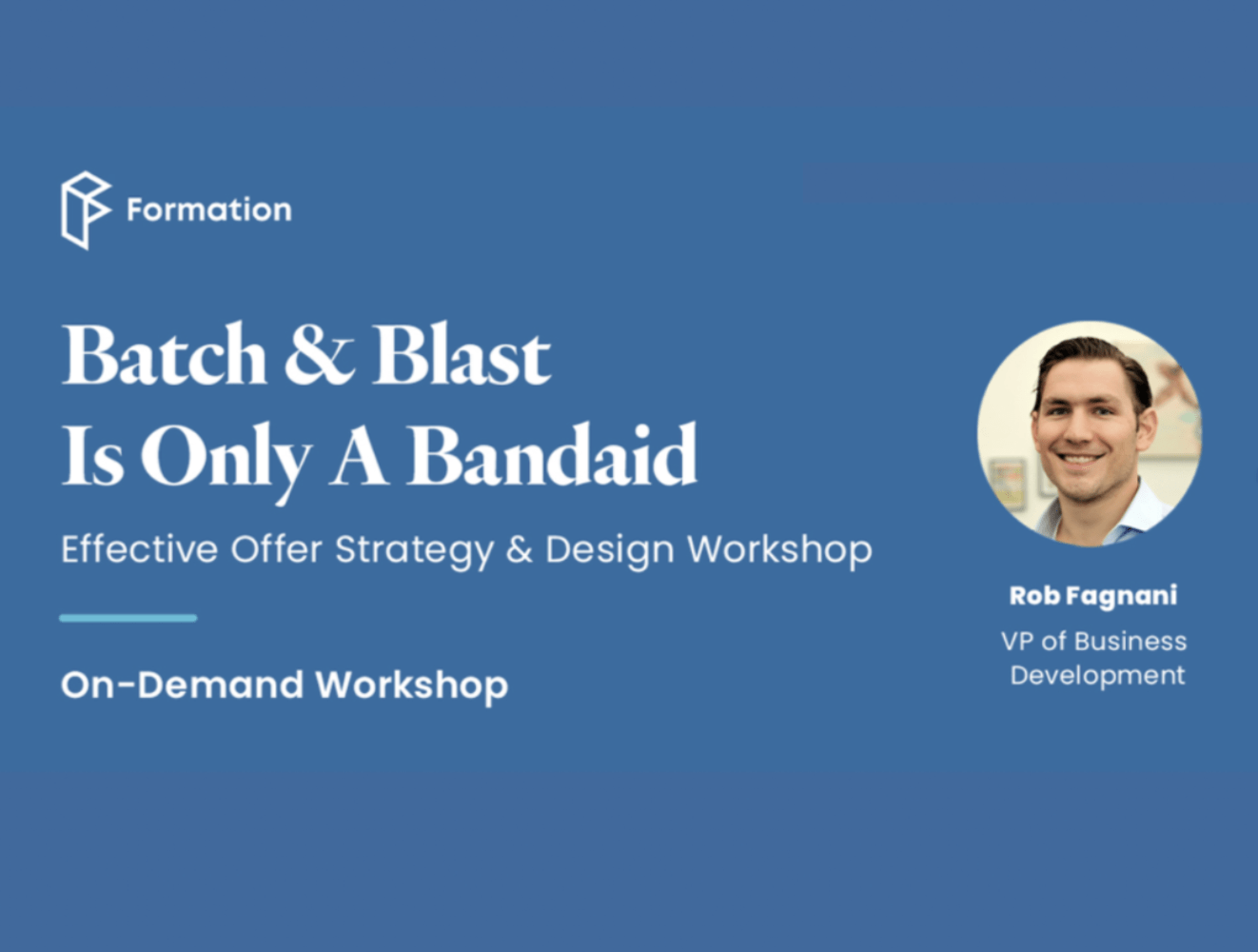 Batch & Blast Is Only A Bandaid